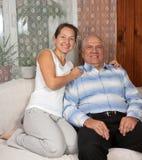 Senior love Stock Image