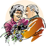 Senior in love Royalty Free Stock Photo