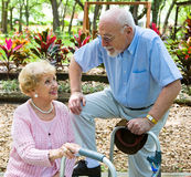 Senior Love Connection Stock Images