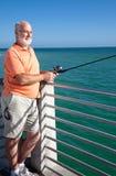 Senior Loves to Fish Stock Photos