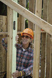 Senior male construction worker Stock Images