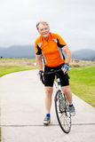 Senior male cyclist Stock Photography