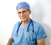 Senior Male Doctor with Stethoscope Royalty Free Stock Photo