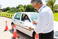 Senior male driving instructor royalty free stock images
