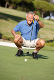 Senior Male Golfer On Golf Course Royalty Free Stock Photo