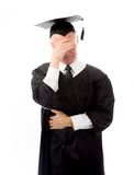 Senior male graduate disappointed Stock Image