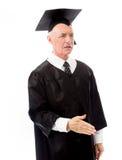 Senior male graduate giving hand for handshake Stock Image