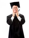 Senior male graduate pulling funny face Royalty Free Stock Photography