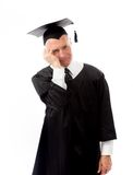 Senior male graduate thinking Royalty Free Stock Photo