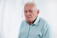 Senior male patient Royalty Free Stock Images