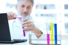Senior male researcher Stock Images