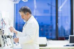 Senior male researcher Stock Photo
