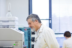 Senior male researcher Stock Photo