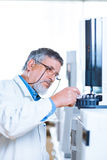 Senior male researcher  in a lab Royalty Free Stock Photo