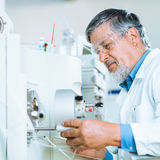 Senior male researcher in a lab Stock Image
