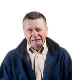 Senior male sneezing Royalty Free Stock Image