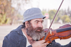 Senior Male With A Violin Royalty Free Stock Photo