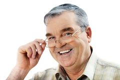 A senior man Stock Image