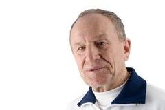 Senior Man. Seventy year old man on white Royalty Free Stock Photo