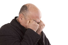 Senior man. Old men Crying with his hands over his face Royalty Free Stock Photo