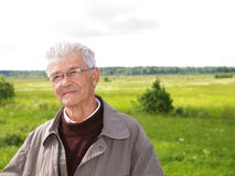 Senior man. On natural background Royalty Free Stock Images