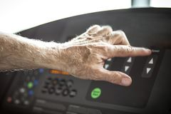 Speed on treadmill. royalty free stock image