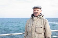 Senior man against the sea Royalty Free Stock Photos