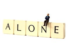 Senior man alone A Royalty Free Stock Photography