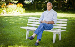 Senior Man Alone Stock Photos