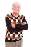 Senior man arms crossed Stock Image