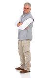 Senior man arms crossed Stock Photos