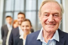 Senior man as the boss or chief executive Royalty Free Stock Images