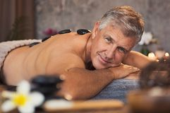 Free Senior Man At Beauty Spa Stock Image - 120991041