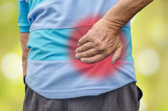 Senior man with back pain. Stock Photo