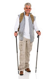 Senior man backpack Stock Images