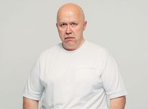 Senior man in bad mood portrait Stock Photo