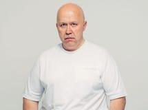 Senior man in bad mood portrait Stock Photo