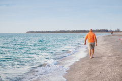 Senior Man on the Beach Stock Image