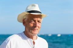 Senior man at the beach Stock Image