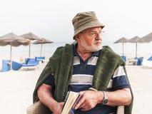 Senior man at the beach Royalty Free Stock Images