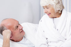 Senior man and beloved wife Royalty Free Stock Photography