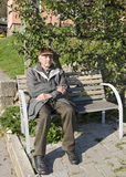 The senior man on the bench Stock Images