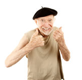 Senior man in beret Royalty Free Stock Image