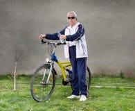 Senior man with bike Stock Photos