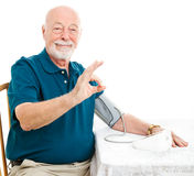 Senior Man - Blood Pressure is A-Okay Royalty Free Stock Photography