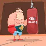 Senior Man Boxer Sport Box Gym Exercise Workout Royalty Free Stock Images