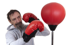 Senior man boxing Stock Photography