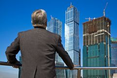 Senior man at the building Royalty Free Stock Images