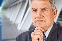 Senior man in the building Stock Images