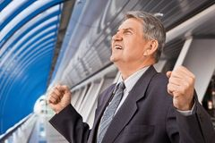 Senior man in the building Royalty Free Stock Photography